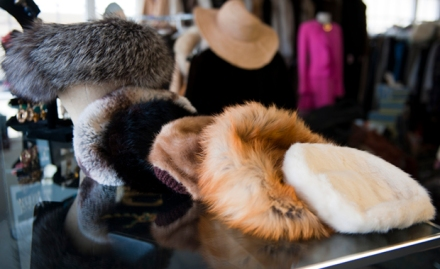 genuine fur coats and designer accessories